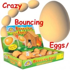Bouncy Eggs. Realistic looking fake egg bouncy ball
